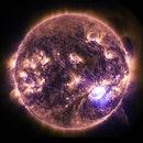 space, dark, sun