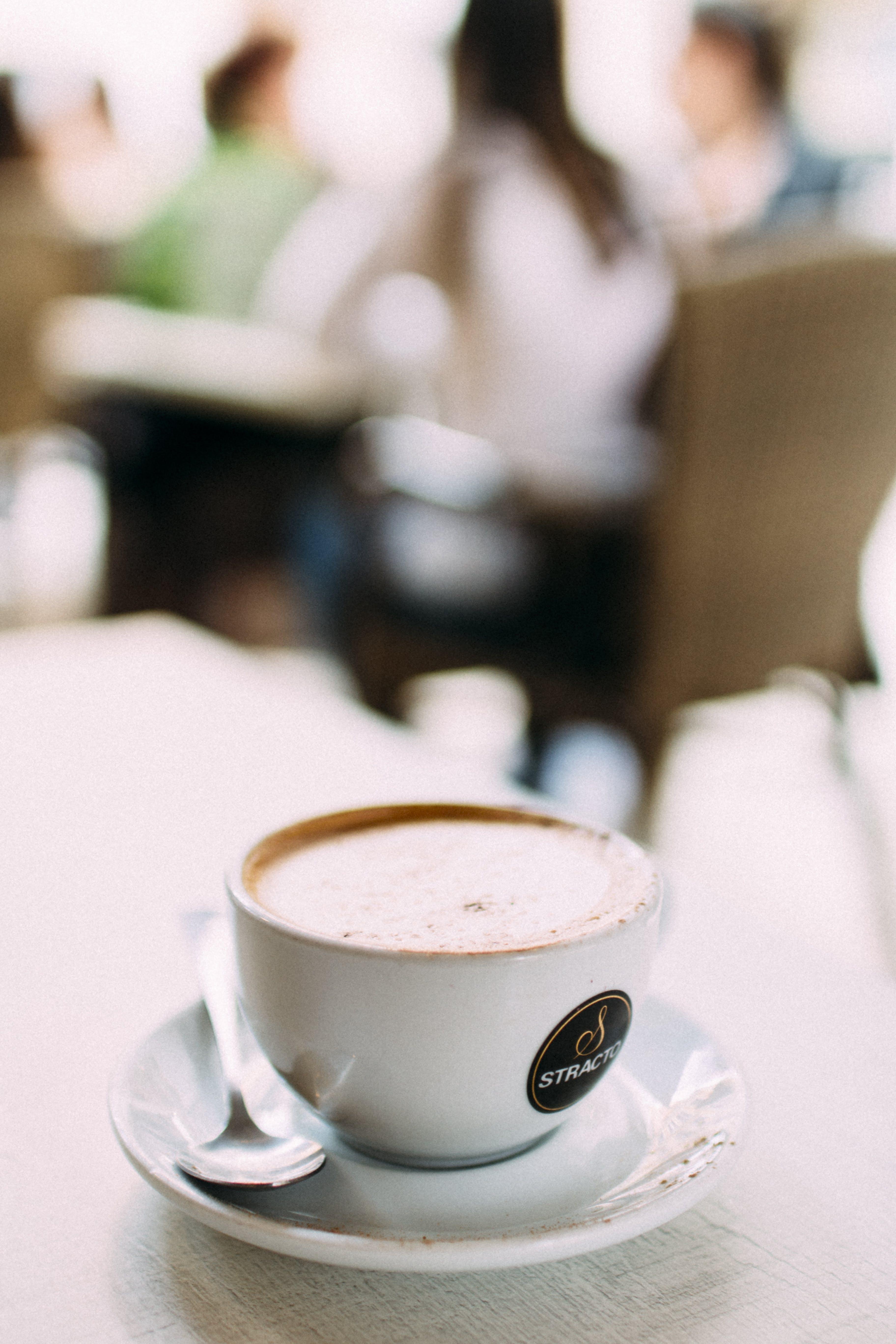 zu bar, café, drinnen, fokus