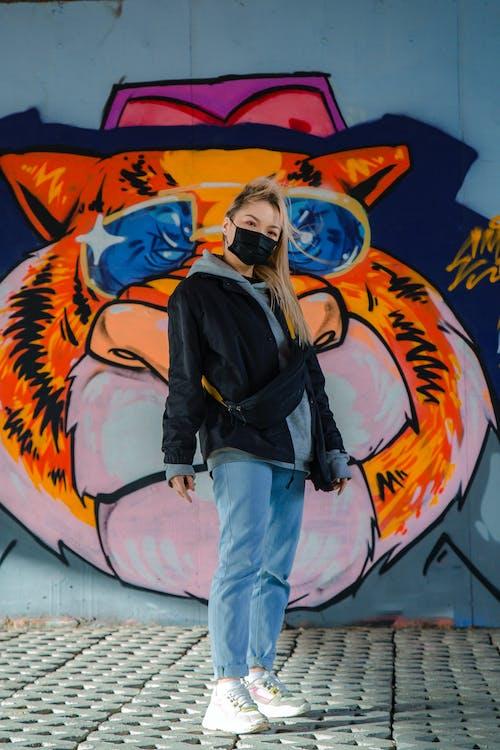 Základová fotografie zdarma na téma graffiti, móda, nosit, osoba