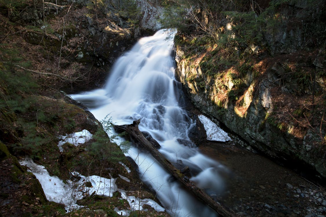 Time-lapse Photo of Waterfalls