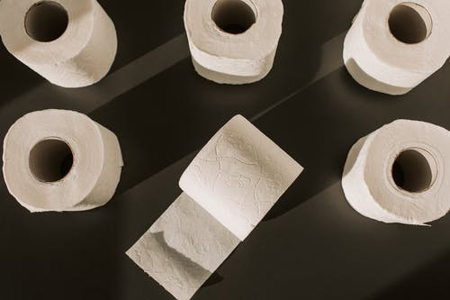 Toilet Paper Rolls on the Floor