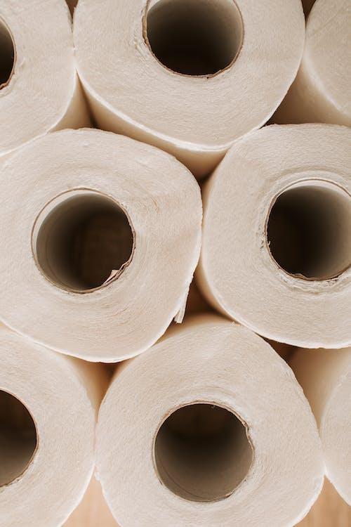 White Toilet Paper Rolls