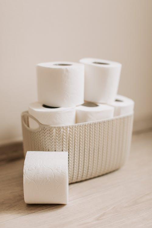 Basket Full of Toilet Paper