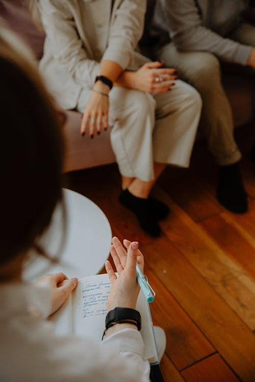 Therapist Giving Advice to Couple