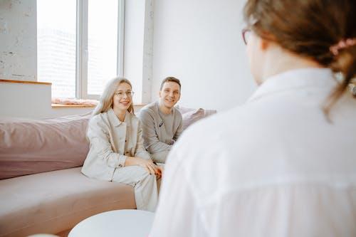 Couple Listening to Therapist