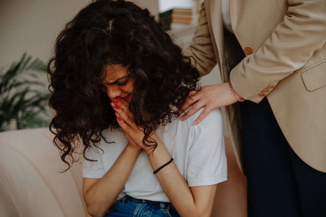 Therapist Comforting Patient