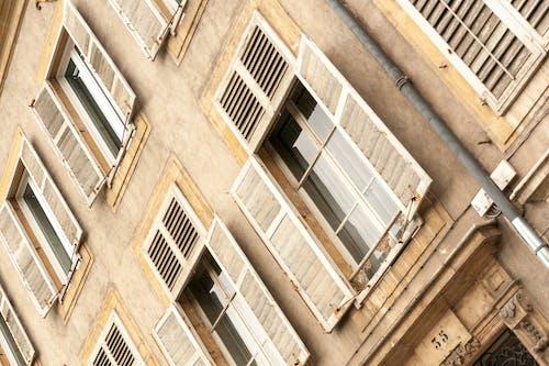 Foto profissional grátis de antigo, arquitetura, construção, cortinas