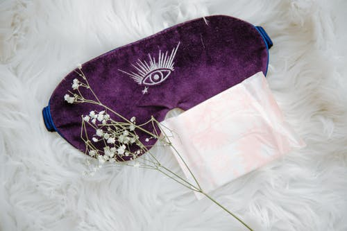 Sanitary Pad on Sleep Mask