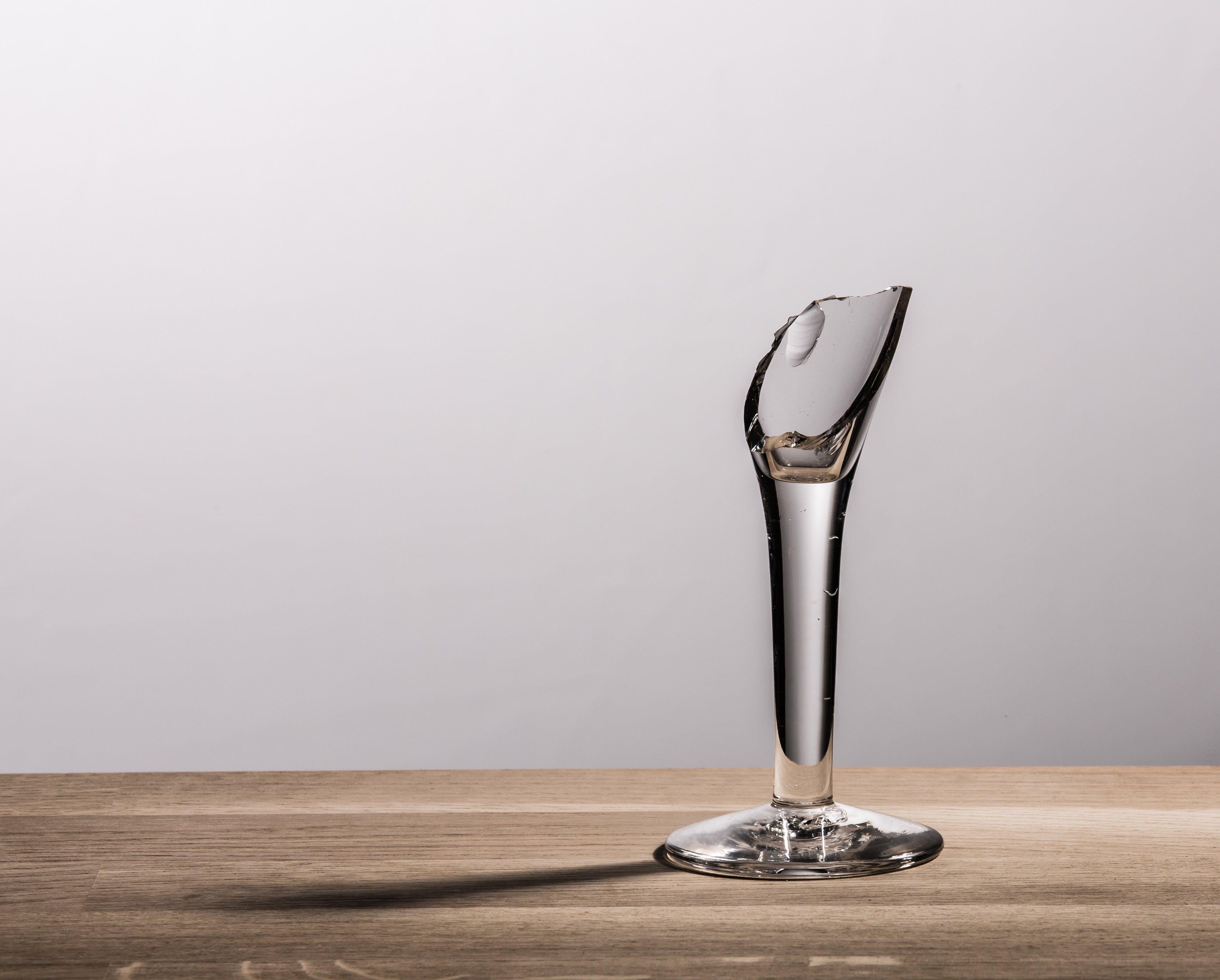 broken, clear, glass