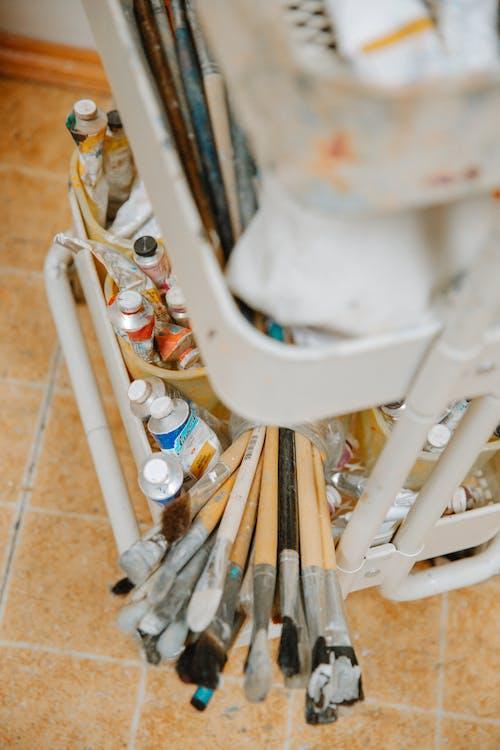 Ảnh lưu trữ miễn phí về acrylic, bàn chải, bàn chải đánh răng, bảng màu