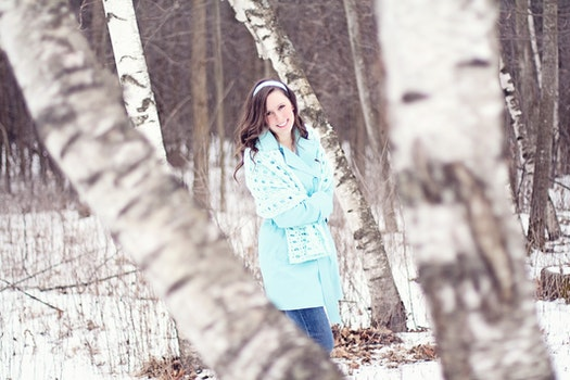 Free stock photo of cold, snow, fashion, woman