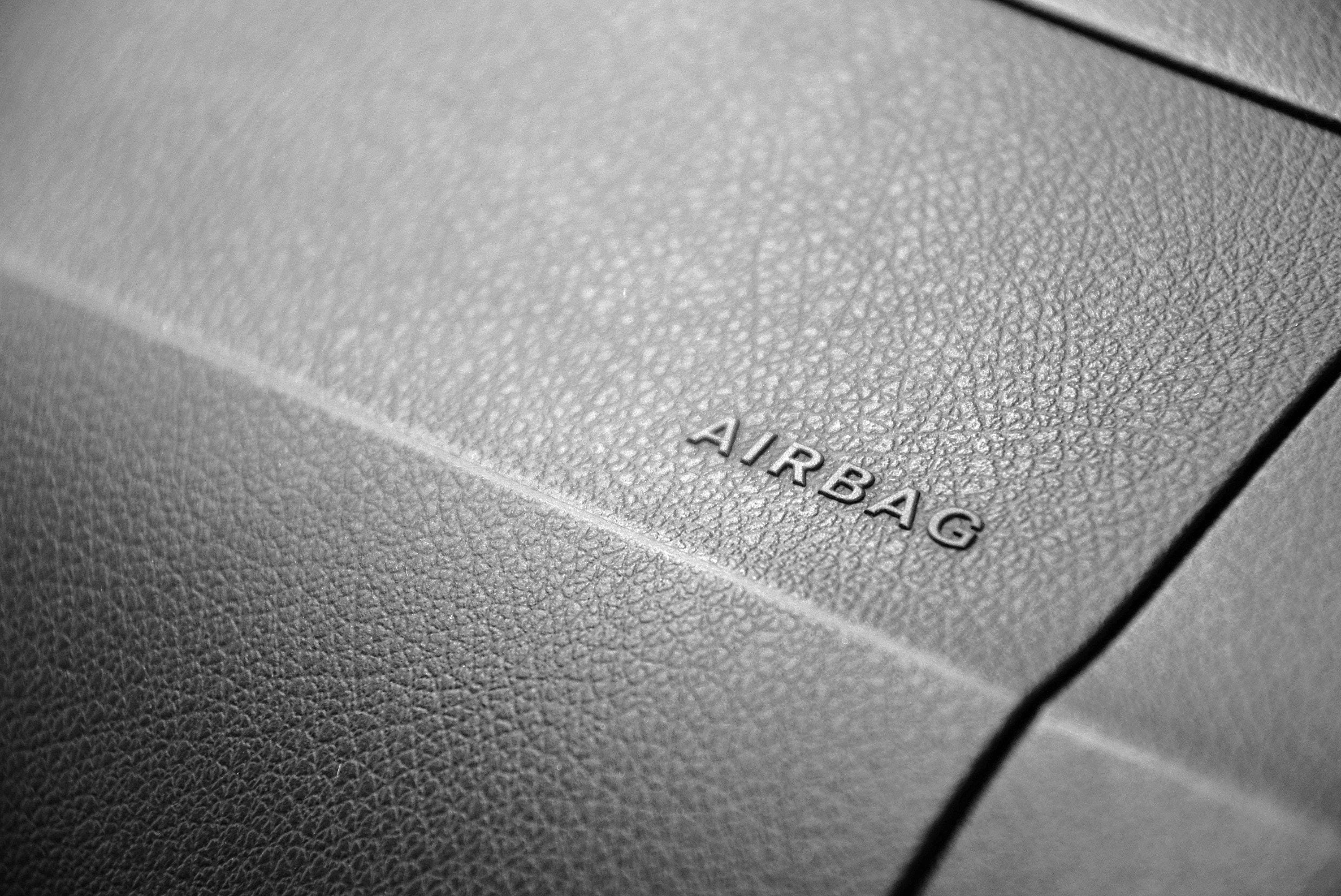 airbag, background, black-and-white