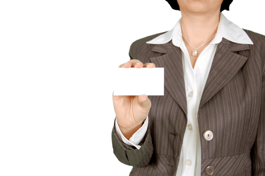 Free stock photo of business business card business cards woman in brown stripe blazer holding white card reheart Choice Image