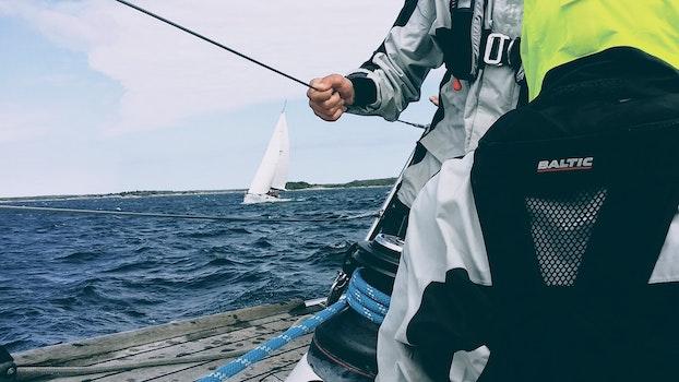 Free stock photo of sea, sky, man, person