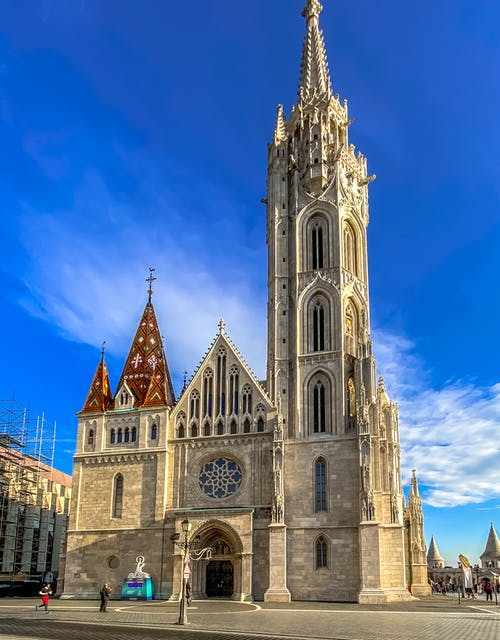 Gray Concrete Church Under Blue Sky