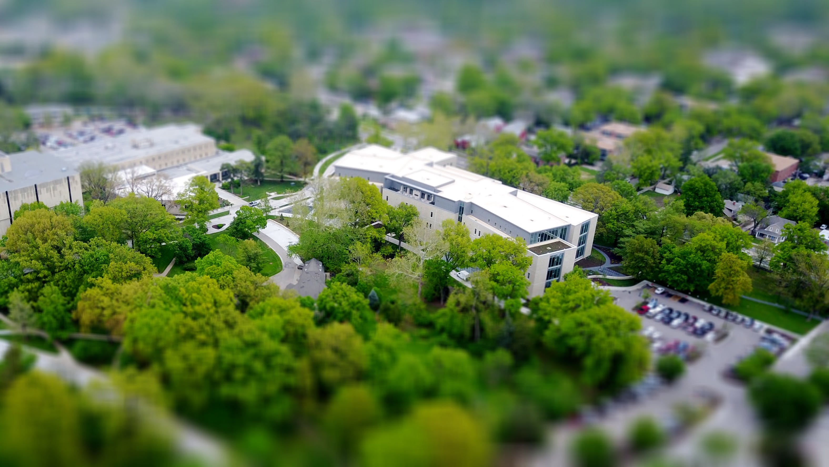 Tilt Shift Photo of White Structure