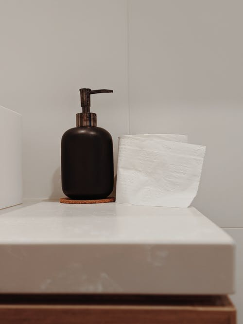 Soap Dispenser and Toilet Paper Roll