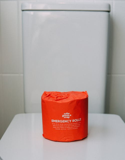 Red Toilet Paper Roll