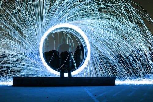 Free stock photo of long exposure, sparks, steel wool photography