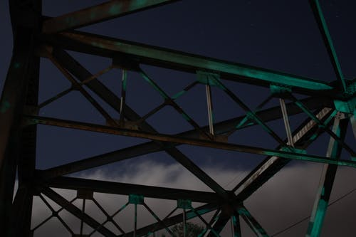 Free stock photo of bridge, long exposure, night