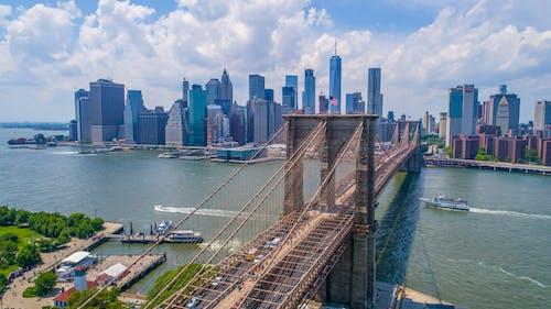 binalar, brooklyn, Brooklyn Köprüsü, doğu nehri içeren Ücretsiz stok fotoğraf