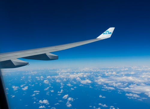 klm, 飛機機翼 的 免費圖庫相片