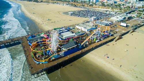 Free stock photo of beach, ferris wheel, los angeles