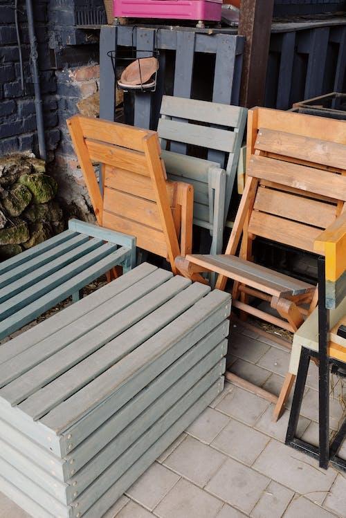 Foto profissional grátis de andar, ao ar livre, arca, assento