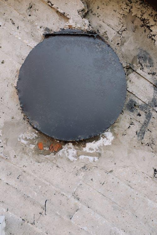 コンクリート, 円形, 汚れた, 破損の無料の写真素材