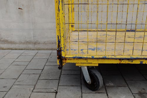 Yellow Utility Cart