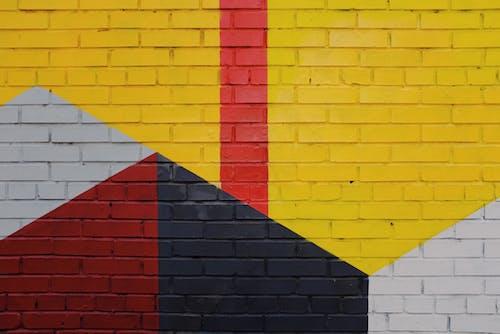 Coloured Brick Wall