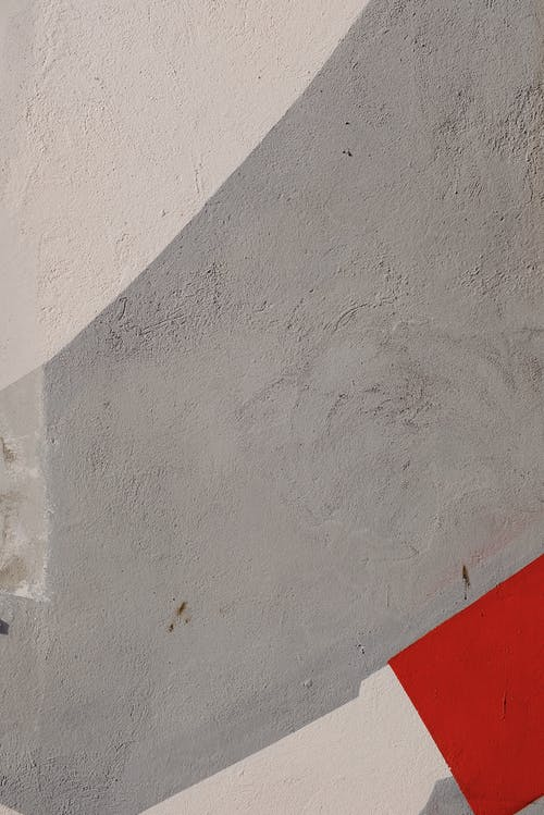 Gray, Red and White Painted Wall