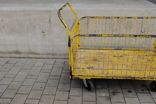 Yellow and Black Utility Trailer