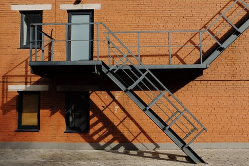 Gray Metal Stairs