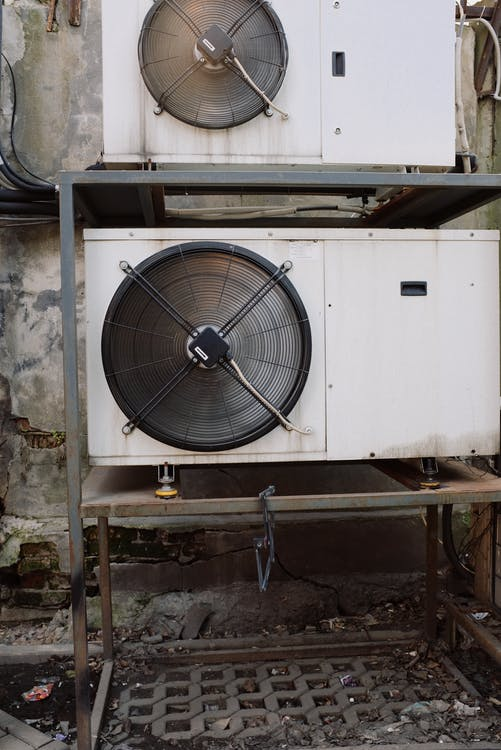 External units of industrial freezer working on full power