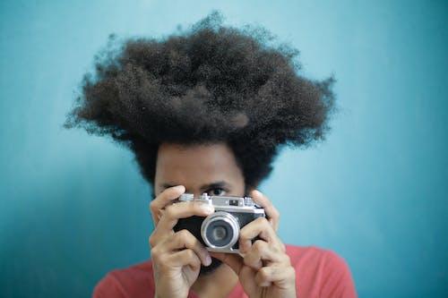 Foto profissional grátis de analógico, análogo, aparelho, cabelo afro