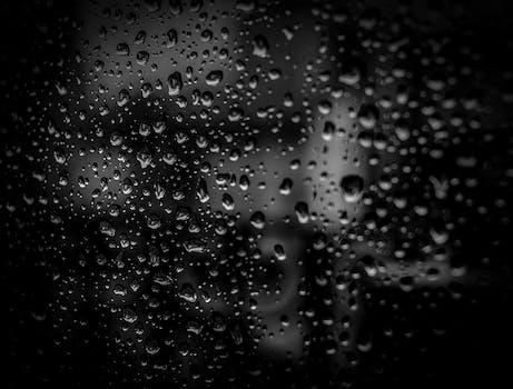Free Stock Photo Of Water Dark Glass Dew