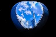 city, sky, clouds