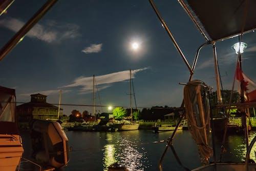 月圓, 海事的 的 免费素材照片