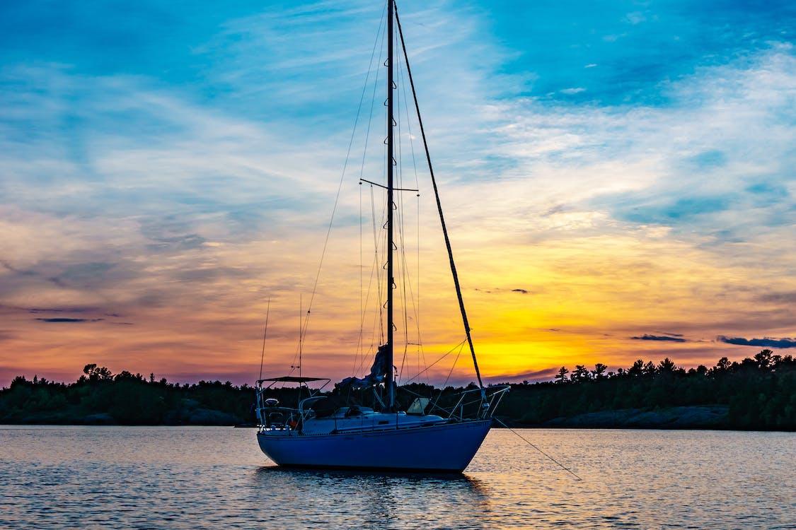 aube, aventure, bateau