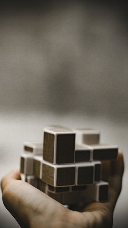Person Holding A Puzzle