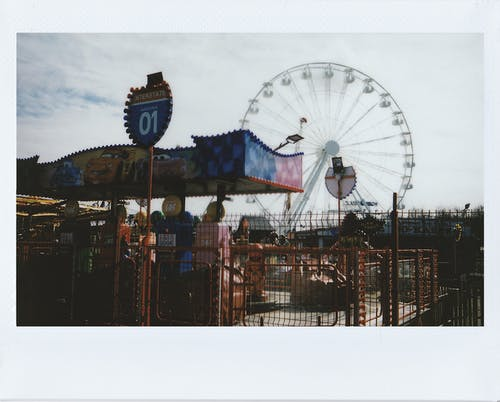 Polaroid Photo Of An Amusement Park