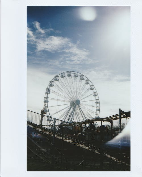 Polaroid Photo Of A Ferris Wheel