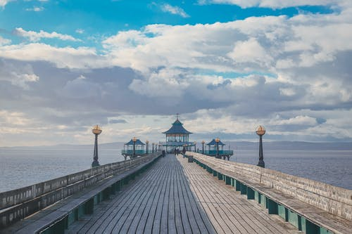 Free stock photo of beach, blue sky, Clevedon, clouds