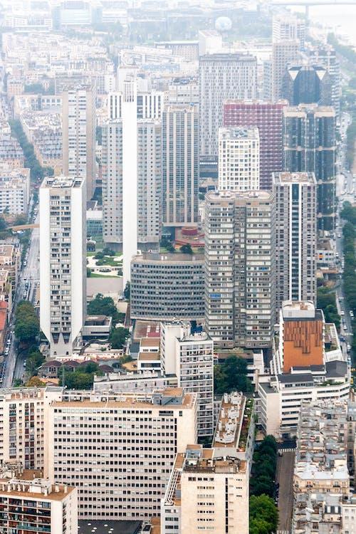Foto profissional grátis de aéreo, alto, arquitetura, arranha-céus