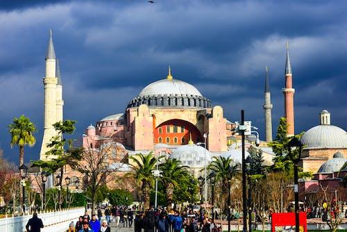 アヤソフィア博物館, イスタンブール, ドーム, ミナレットの無料の写真素材