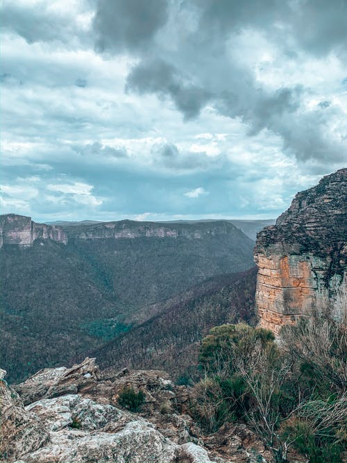 Free stock photo of blue mountains, valley