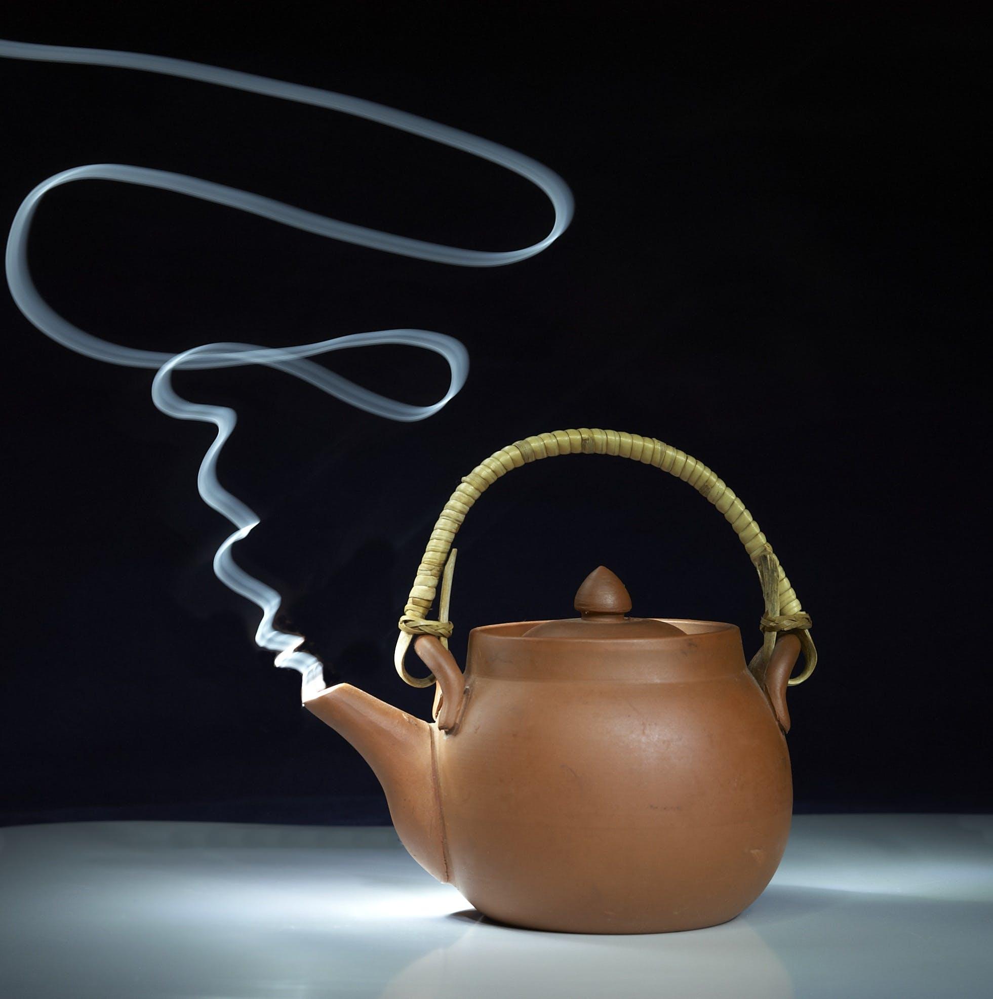 Brown Teapot Smoking