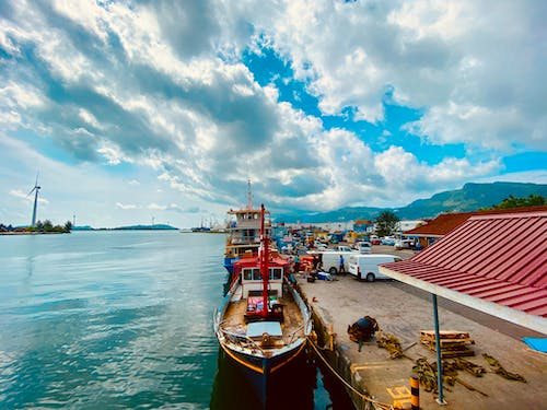 Free stock photo of boat ferry, cat cocos, port, sea