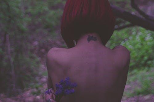 artificialred, 人造花, 女孩, 頭髮 的 免費圖庫相片